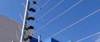 Instalação de cerca elétrica industrial